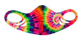 Kids Antimicrobial Spacer Face Mask - Rainbow Tie Dye